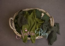 Oval  Basket  Bundle ~ greens